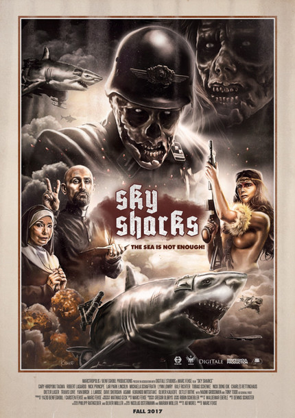 SKY SHARKS: Check The New Trailer For Nazi Zombies Riding Flying Sharks Madness!