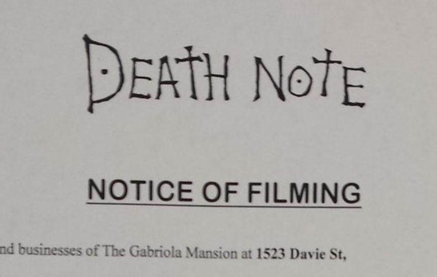 Adam Winguard's Death Note Begins Shooting in Vancounver