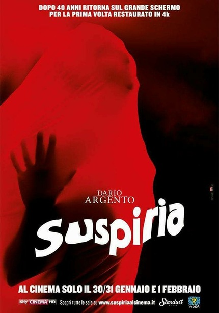 4K Restoration Of Dario Argento's SUSPIRIA To Screen In Berlin. Check Out The Trailer Here!