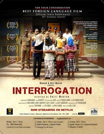 Interview: Indian Oscar Submission, INTERROGATION's Vetri Maaran