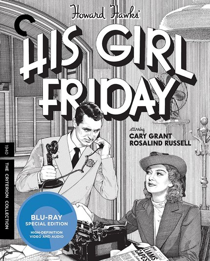 Blu-ray Review: HIS GIRL FRIDAY From Criterion Is Black and White and Read All Over