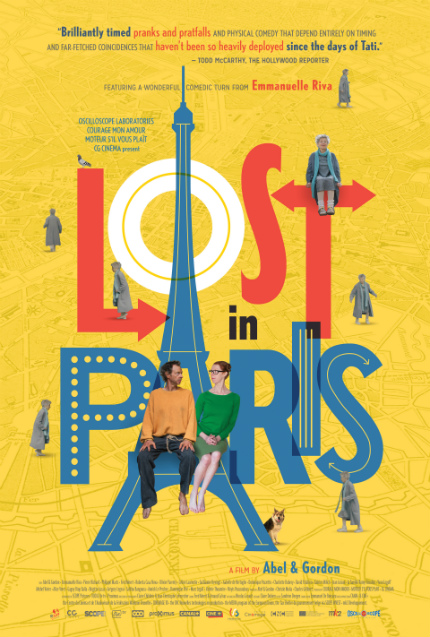 Fresh French Comedy LOST IN PARIS Debuts Witty Trailer, Lovely Poster