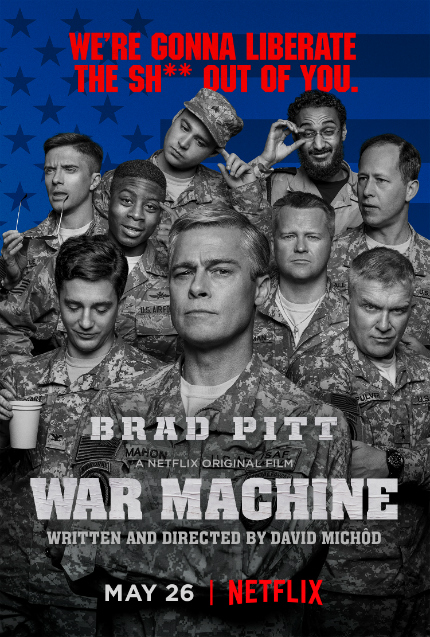 Brad Pitt Takes Command in New WAR MACHINE Trailer
