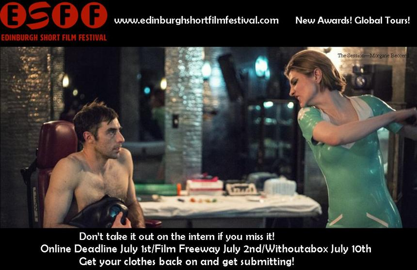 LAST CHANCE TO USE DISCOUNT CODES FOR ENTRY TO THE EDINBURGH SHORT FILM FESTIVAL 2017!