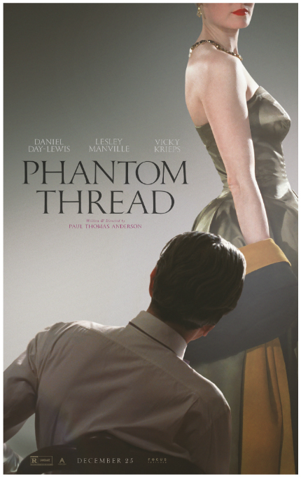 PHANTOM THREAD Trailer: Paul Thomas Anderson, Daniel Day-Lewis, and Fine 1950s Clothing