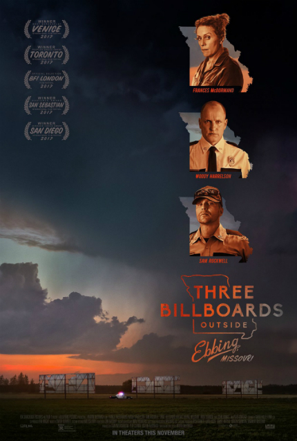 Review: THREE BILLBOARDS OUTSIDE EBBING, MISSOURI, Laughing at Darkness and Despair