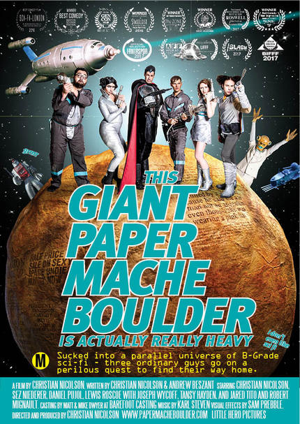 THIS GIANT PAPIER MACHE BOULDER IS ACTUALLY REALLY HEAVY, And in US Cinemas Next Friday!
