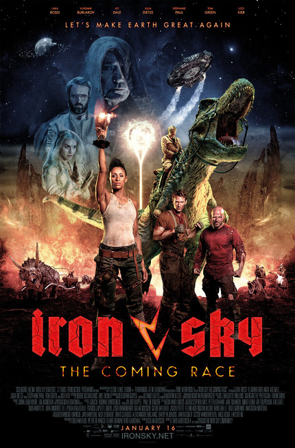 Tom Green, Udo Kier And Hitler On A Dinosaur! It's The Theatrical Trailer For IRON SKY: THE COMING RACE!