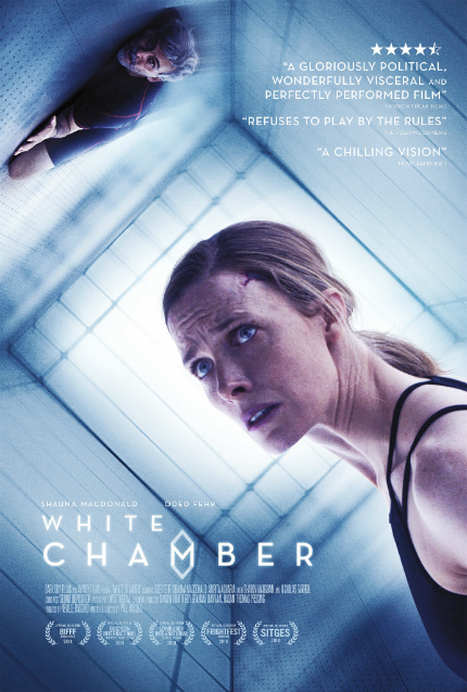 Exclusive WHITE CHAMBER Clip: Shauna MacDonald Gets a Nasty Surprise