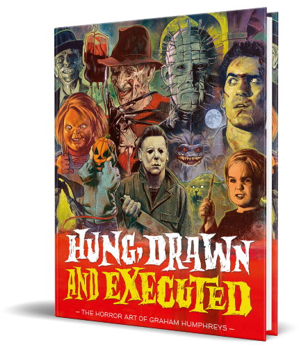 Discover The Iconic Horror Art of Graham Humphreys In The New Book, HUNG, DRAWN, AND EXECUTED
