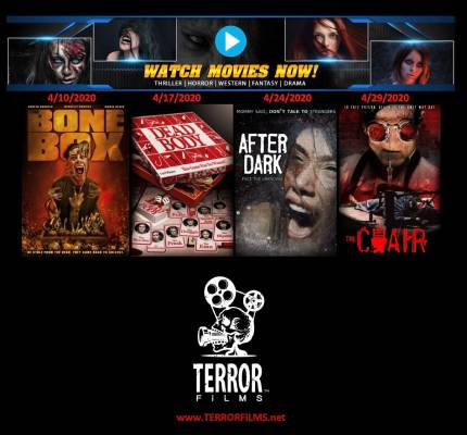 Terror Films Teams With Watch Movies Now! to Release Four Free Horror Films in April