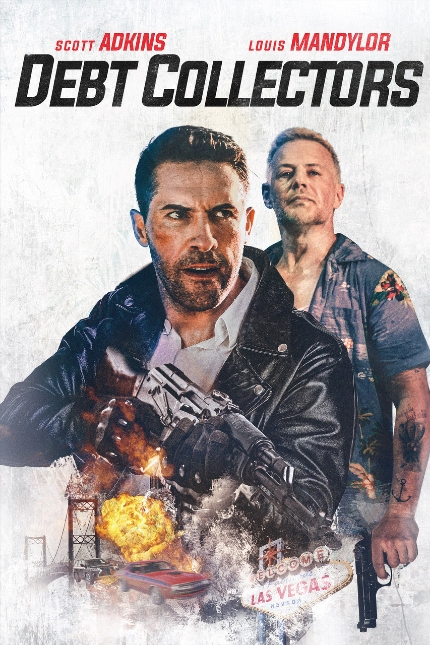 Exclusive Clip: DEBT COLLECTORS Scott Adkins and Louis Mandylor Meet AK47