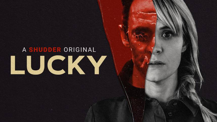 LUCKY: Watch The Trailer For Natasha Kermani's Awesome Slasher Thriller, See it on Shudder March 4th